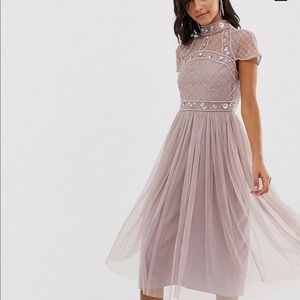 NWT ASOS DESIGN midi dress w/ embellished crop top